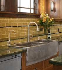 Stainless Steel Faucets Kitchen by Kitchen Convenient Cleaning With Stainless Steel Farm Sink
