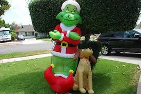 grinch yard decoration fancy how the grinch stole christmas yard decorations who