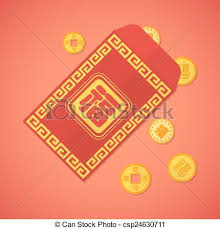 lunar new year envelopes vector flat design new year envelope with coins