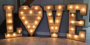 large light up letters large light up letters for sale wood 4ft love with heart cabochon