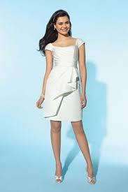 alfred angelo little white dress short casual wedding dress 2151