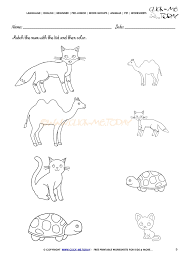 pet animals worksheet activity sheet 9