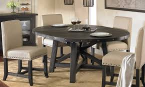 yosemite round upholstered dining set haynes furniture