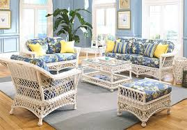 Living Room Wicker Furniture 6 Harbor Wicker Furniture Set