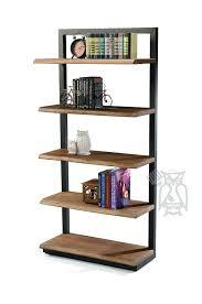 Industrial Metal Bookshelf Bookcase Wood And Metal Bookcase Industrial Wood And Metal