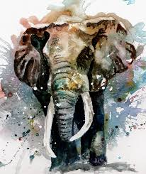 animals painting the elephant by steven ponsford