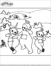 teletubbies coloring pages coloring library coloring