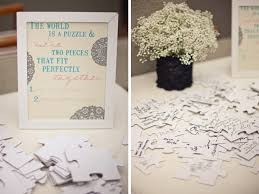 wedding guest book sign guest book alternative puzzle guest sign in