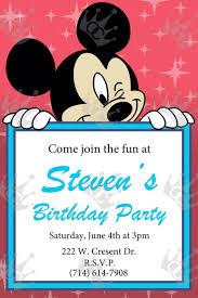 mickey mouse 2nd birthday invitations 26 best boy birthday invites images on pinterest boy birthday
