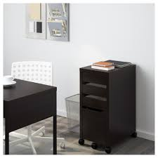 Desk With Filing Cabinet Drawer Micke Drawer Unit Drop File Storage Black Brown Ikea