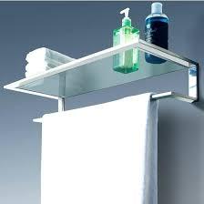 Wood Bathroom Towel Racks Bathroom Shelf With Towel Bar Cool Line Platinum Collection