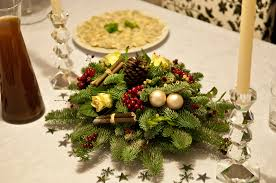 kitchen island beautiful christmas table decoration design with