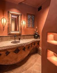 mediterranean style bathrooms bathroom mediterranean style bathroom orange wall color leather