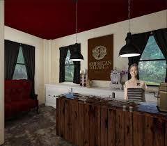 Registration Desk Design Steampunk Spa U2014 Elyse Kamps Interior Design