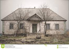 old abandoned single storey house stock photo image 48502621