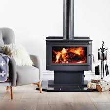 combustion freestanding slate hearth on laminate flooring