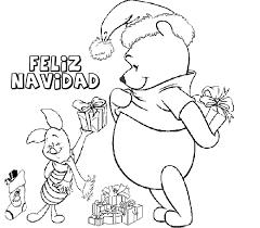 imagenes de navidad para colorear online dibujo para imprimir y colorear de regalos winnie the pooh y piglet