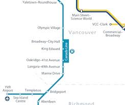 vancouver skytrain map skytrain maps vancouver by