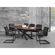 Esszimmertisch Set En Casa Esstisch Walnuss Mit 6 Stühlen 200x100 Tisch Stühle
