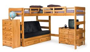 Chelsea Home LShaped Bunk Bed  Reviews Wayfair - L shape bunk bed