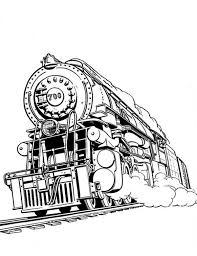 awesome steam train on railroad coloring page color luna