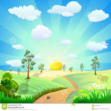 cartoon landscape background royalty free stock image image