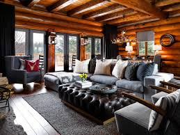 Lodge Interior Design by Log Cabin Makeover Ideas Colin And Justin U0027s Cabin Pressure