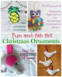easy felt tree ornaments review so sew easy