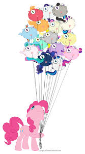 my pony balloons pinkie and the balloons my pony friendship is magic