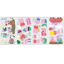 roommates peppa pig peel stick wall decals toys