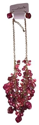 charming charlies earrings charming pink and earring set necklace tradesy