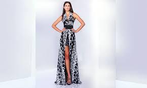 robert abi nader wedding dresses in ball gown center split slit