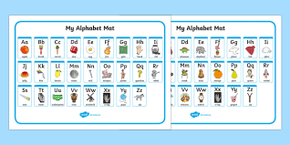 printable alphabet mat a z alphabet mat upper lowercase alphabet mat dfes