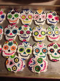 Halloween Tree Ornaments My Salt Dough Sugar Skull Ornaments This Years Christmas Tree