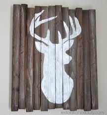 Deer Home Decor by Restoration Beauty Diy Rustic Deer Head Silhouette No Fancy