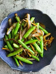 stir fried green beans with ginger and onions recipe