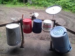 homemade drum set google search playscape ideas pinterest