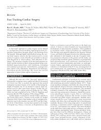 review fast tracking cardiac surgery