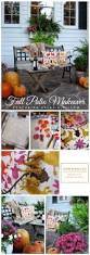 Fall Outdoor Pillows by Fall Patio Makeover Featuring Paint A Pillow Stencil Stories