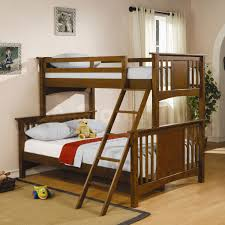 Small Kid Room Ideas by Storey Bedstead With Wooden Brown Color With Ladder In Small Space