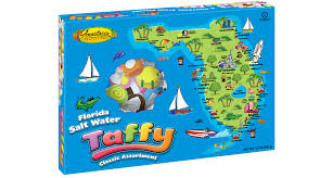 Floridas Map by Florida Map Salt Water Taffy Anastasia Confections