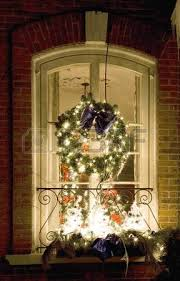 Christmas Decorations On Window by Christmas Window Stock Photos Royalty Free Christmas Window
