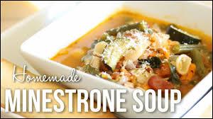 homemade minestrone soup hearty italian soup recipe youtube
