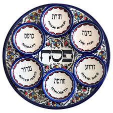 sadar plate passover seder plate armenian ceramic judaica web store