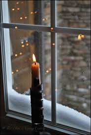 holiday window candle lights my country living via pinterest sweet candels pinterest