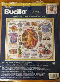 bucilla paper dolls teddy bears counted cross stitch kit