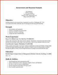 Sample Job Resume Format by Federal Government Resume Example Httpwwwresumecareerinfofederal