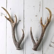 rustic faux deer antlers decorative accents primitive decor