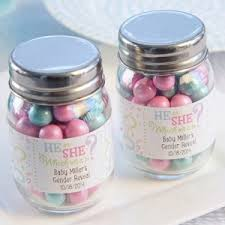 jar favors gender reveal personalized mini jar favors set of 12