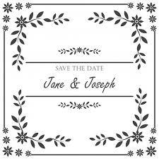 wedding invitation frame vintage wedding invitation frame vector free
